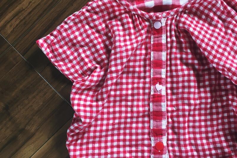 手作り,子どもパジャマ,トップス,スナップボタン