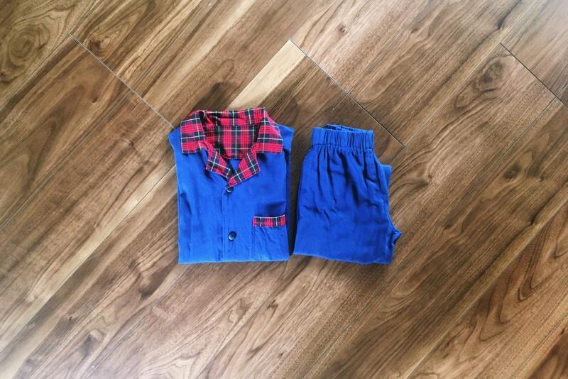 ハンドメイド子供服,セットアップ,シャツとパンツ,リメイク