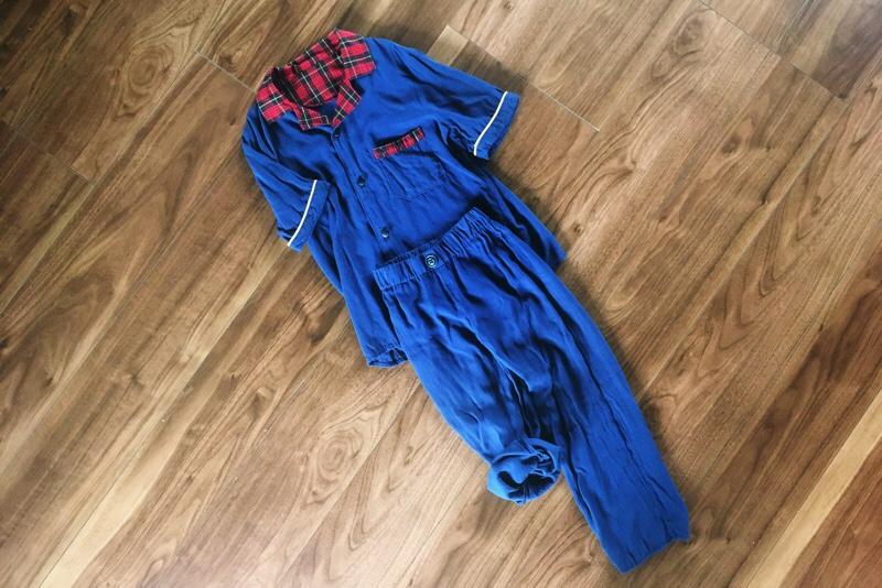 ハンドメイド子供服,全体像,セットアップ,シャツとパンツ,リメイク