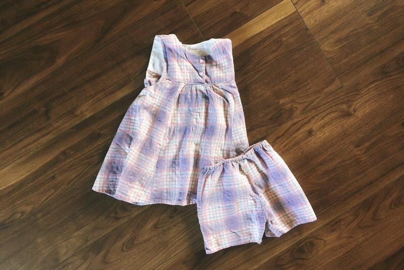 ピンクチェックワンピース&ショートパンツ,使用パターン,スタイリスト佐藤かなが作る女の子に着せたい毎日の服