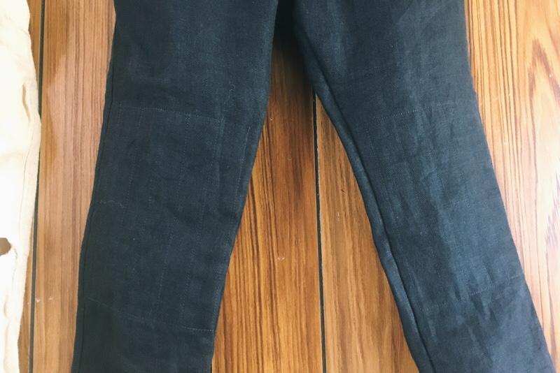 ハンドメイドパンツ,膝二重