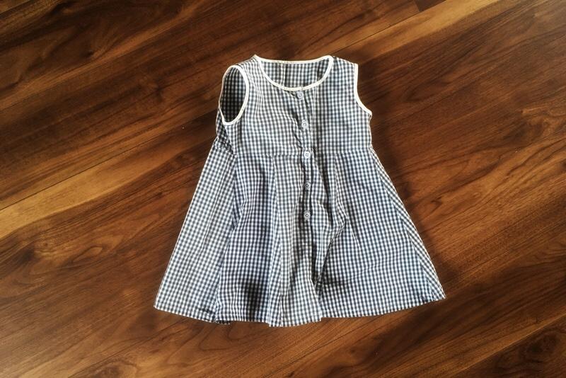 リメイク,ギンガムチェックのワンピース,Aライン,子供服