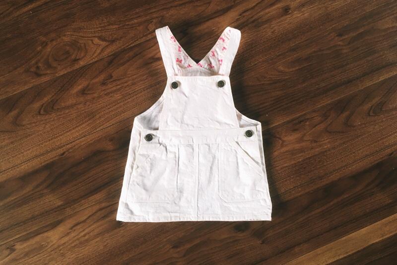 パターンレーベルの子供服ソーイングSTYLEBOOK,サロペットスカート,ホワイトデニム