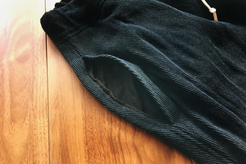 脇ポケット,口布なし