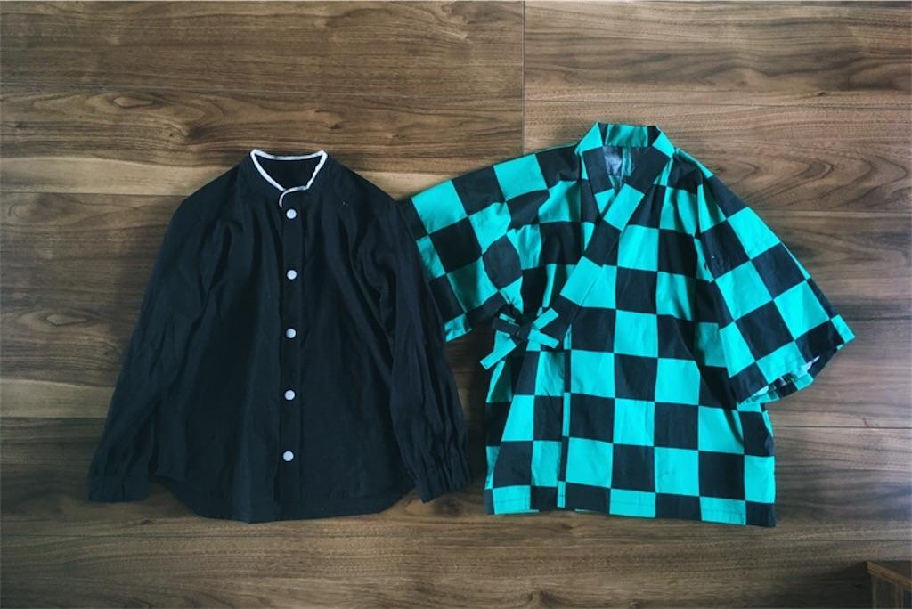 炭治郎コスプレ衣装手作り,スタンドカラーシャツ,甚平