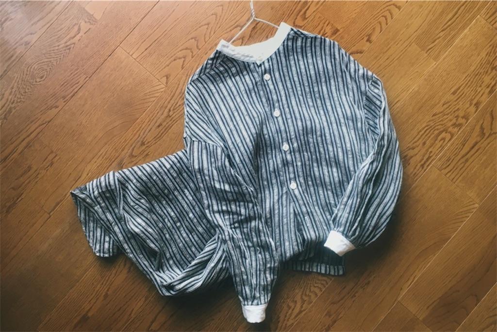 ハンドメイドシャツワンピースストライプ,MAGALIのノスタルジックなワードローブ,スクエア衿のワンピース