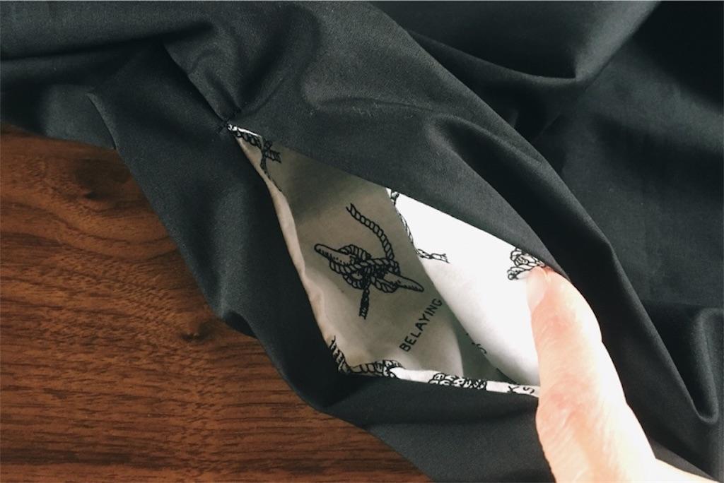 シンプルで着やすい毎日服作りました,ポケット