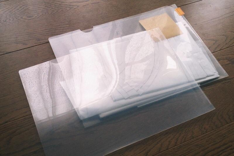 ハンドメイド型紙収納,クリアホルダー