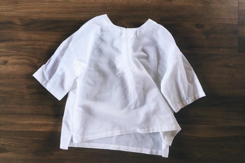 佐藤かな,ポケット付き白いTシャツ,ハンドメイド服