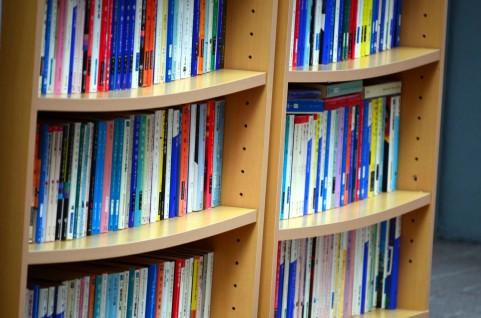本があふれている本棚の写真