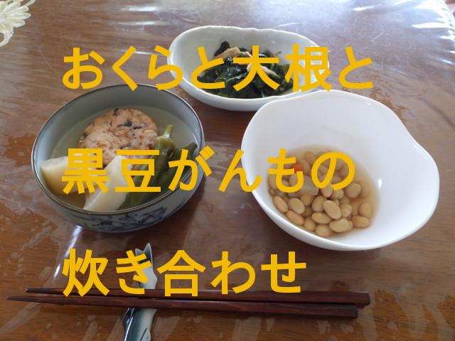 「わんまいる」旬の手作り健幸ディナーお試しおかずセット「おくらと大根と黒豆がんもの炊き合わせ」