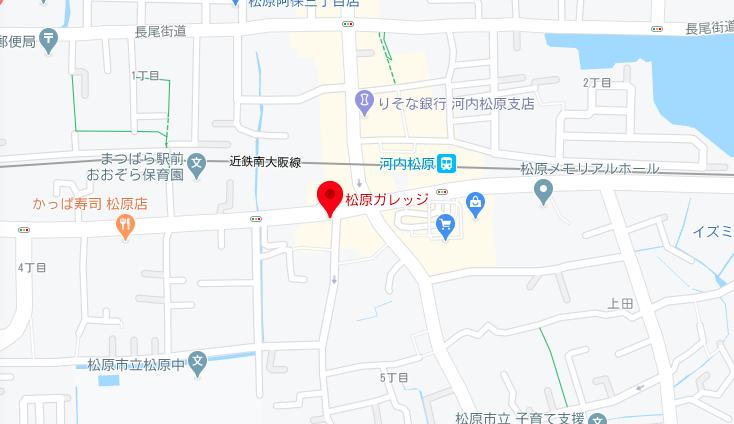 松原ガレッジのマップ