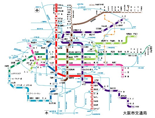 個別「大阪地下鉄路線図」の写真...