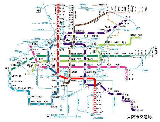 路線図|Osaka Metro