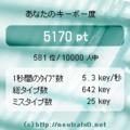 キーボードチェッカー 5.3key/秒