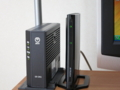 回線終端装置と無線LANルーター