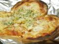 餃子の皮でピザ作成