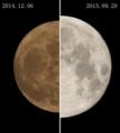 [月]月の大きさ 比較