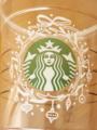 スタバ 冬仕様のカップ