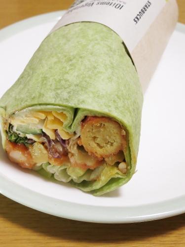 スタバ サラダラップ 10品目野菜