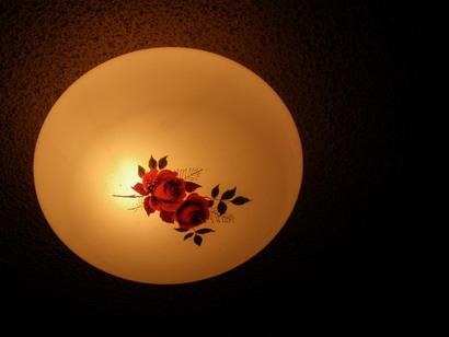 薔薇の模様の照明