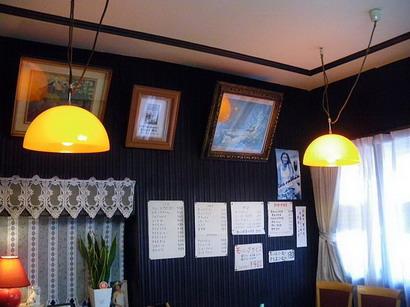 ブラジルコーヒー店内・オレンジの照明
