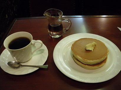 ホットケーキと珈琲