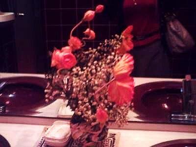トイレの造花