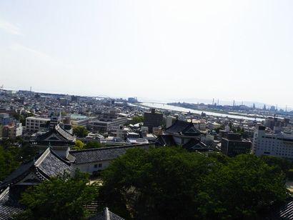 和歌山城天守閣からの景色