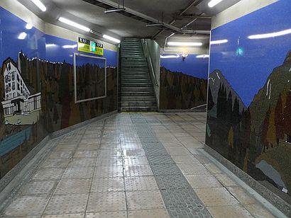 善光寺下駅壁画1