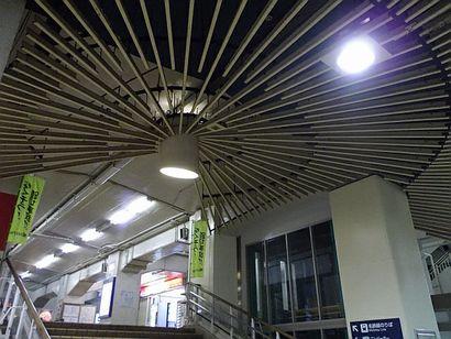名鉄堀田駅・放射状の装置3
