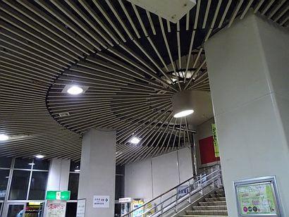 名鉄堀田駅・放射状の装置1