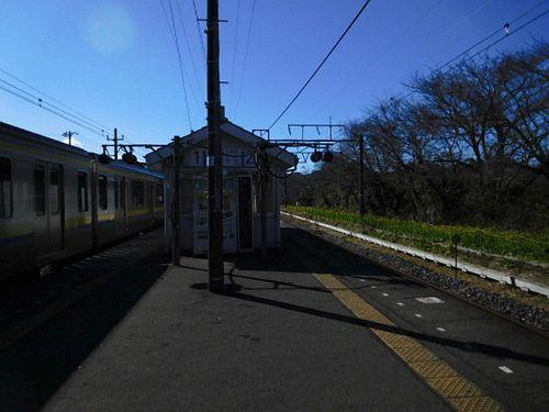 上総湊・駅のホーム