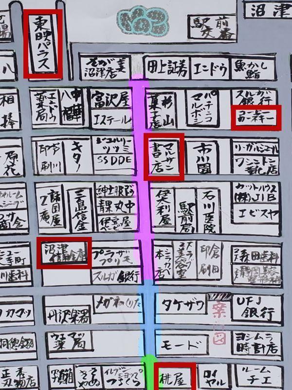 沼津の地図
