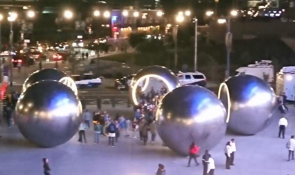 5つの球体