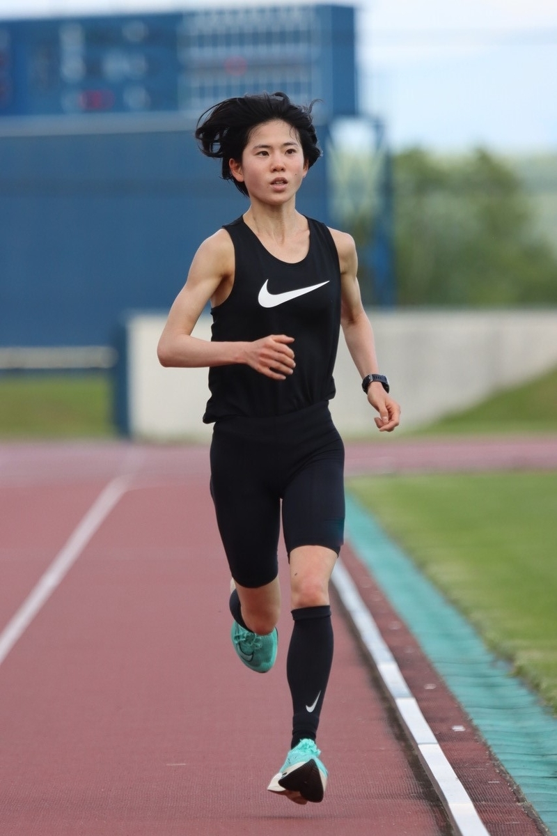 北海道で合宿中の鈴木亜由子選手