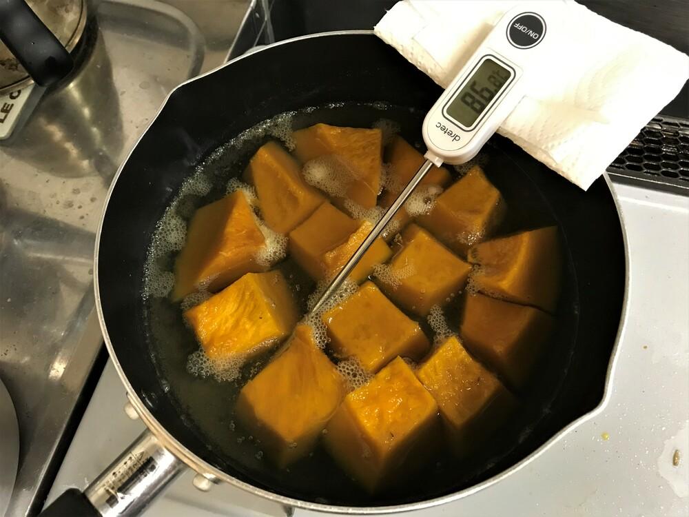 カボチャの煮物 火加減