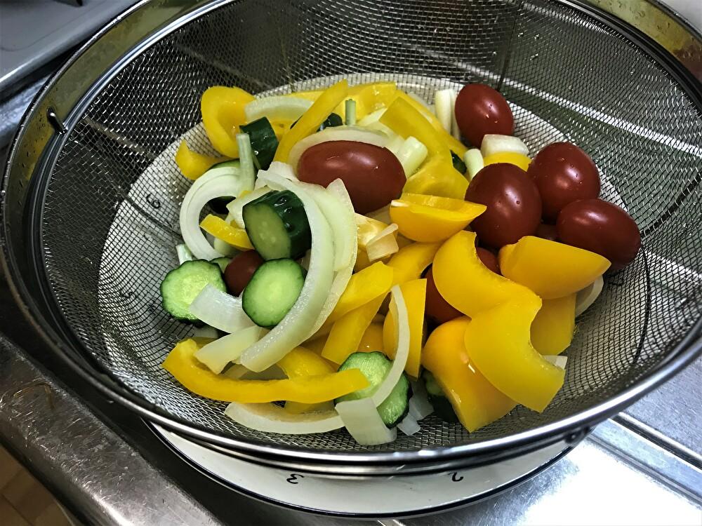 ピクルス 野菜を茹でた後