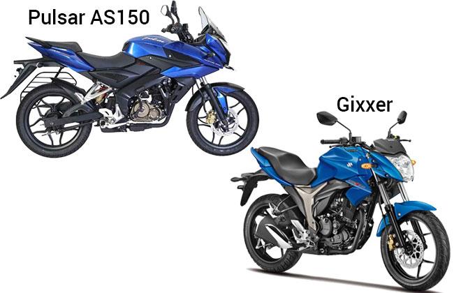 Pulsar AS150 and Suzuki Gixxer Design