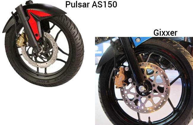 Pulsar AS150 and Suzuki Gixxer Safety
