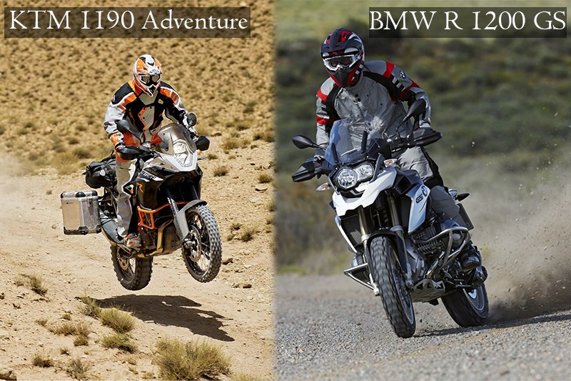riding bmw r 1200 gs vs ktm 1190 adventure