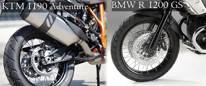 safety bmw r 1200 gs vs ktm 1190 adventure