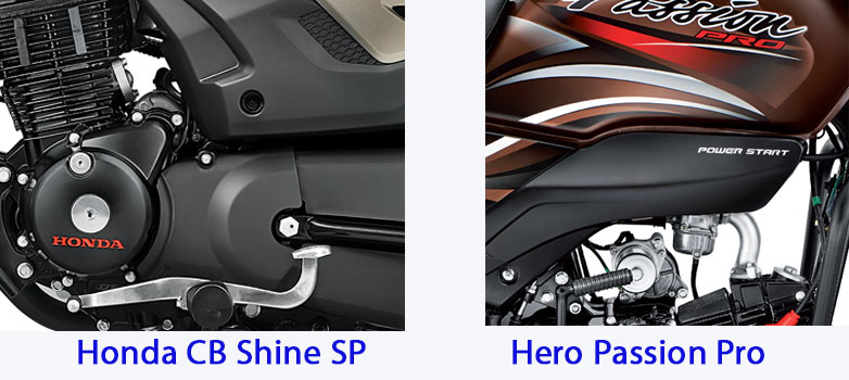 Shine SP VS Passion Pro Engine, Power and Performance