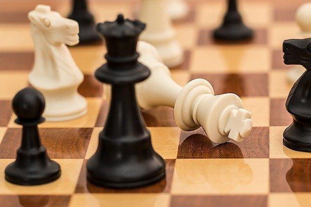 チェスの勝負。チェックメイト