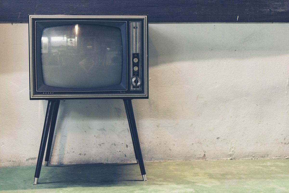 レトロな足つきTV
