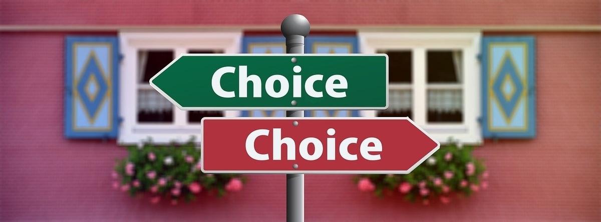 選択を表す標識