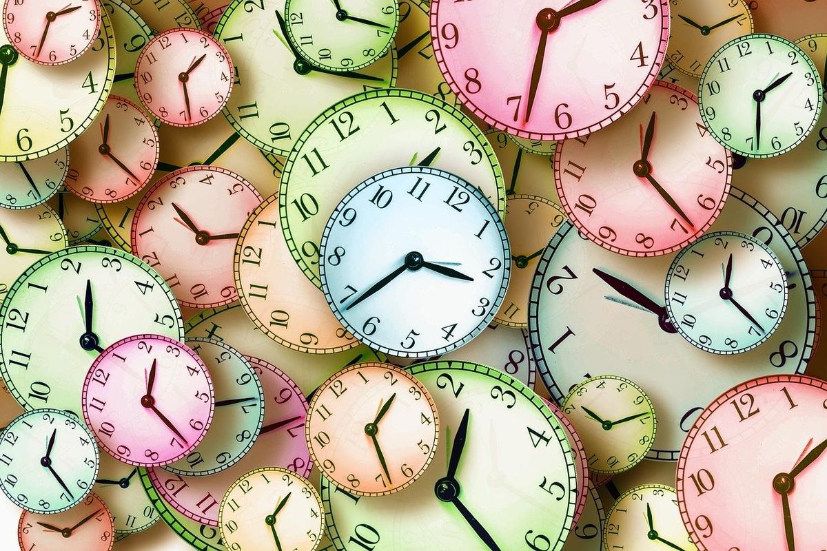 時計。時間の把握