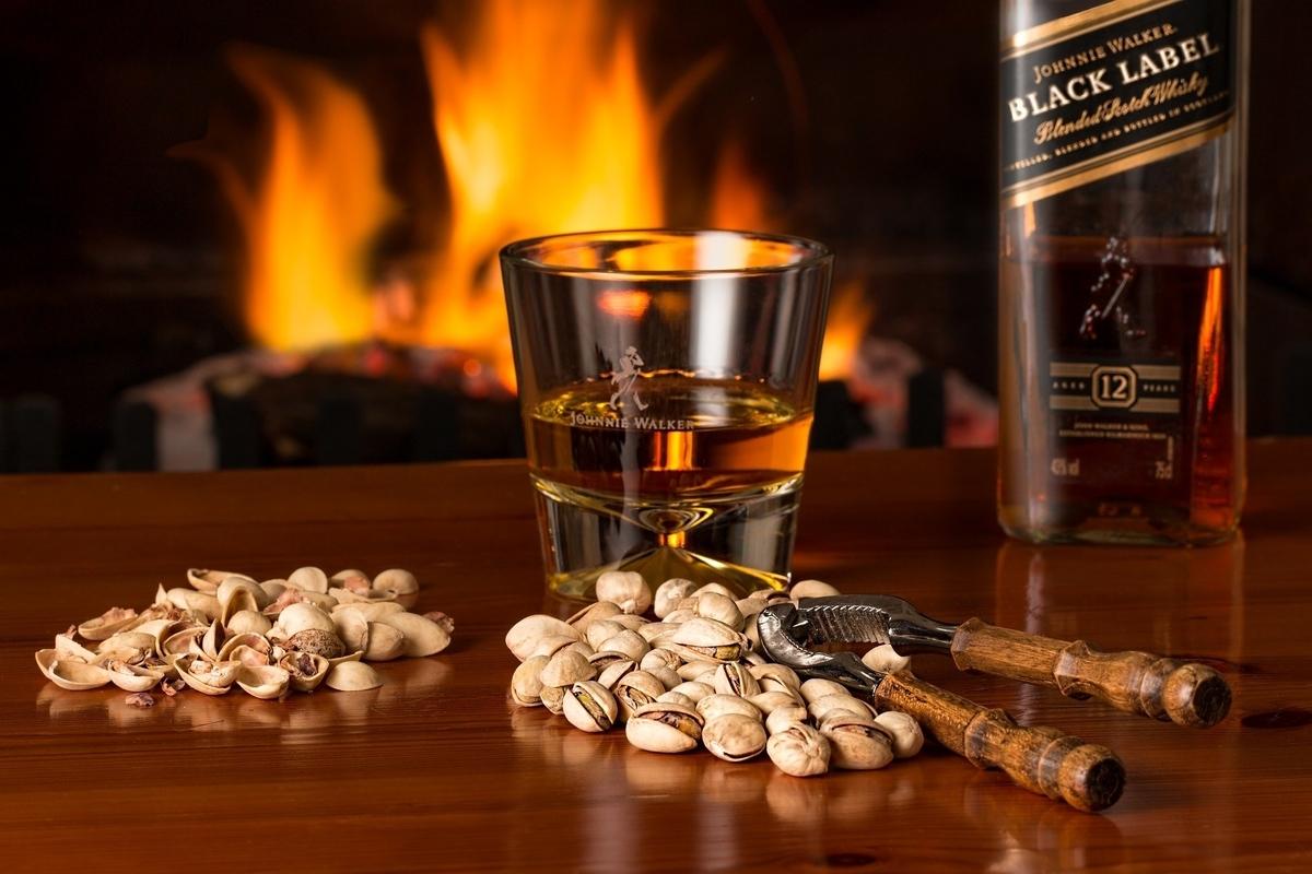 豪華なウイスキーでの晩酌