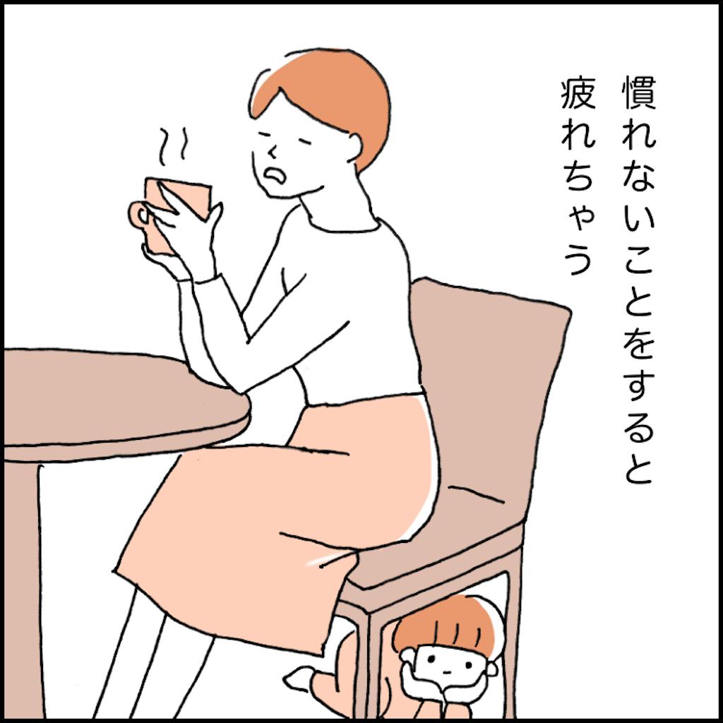 コーヒーブレイクする女性