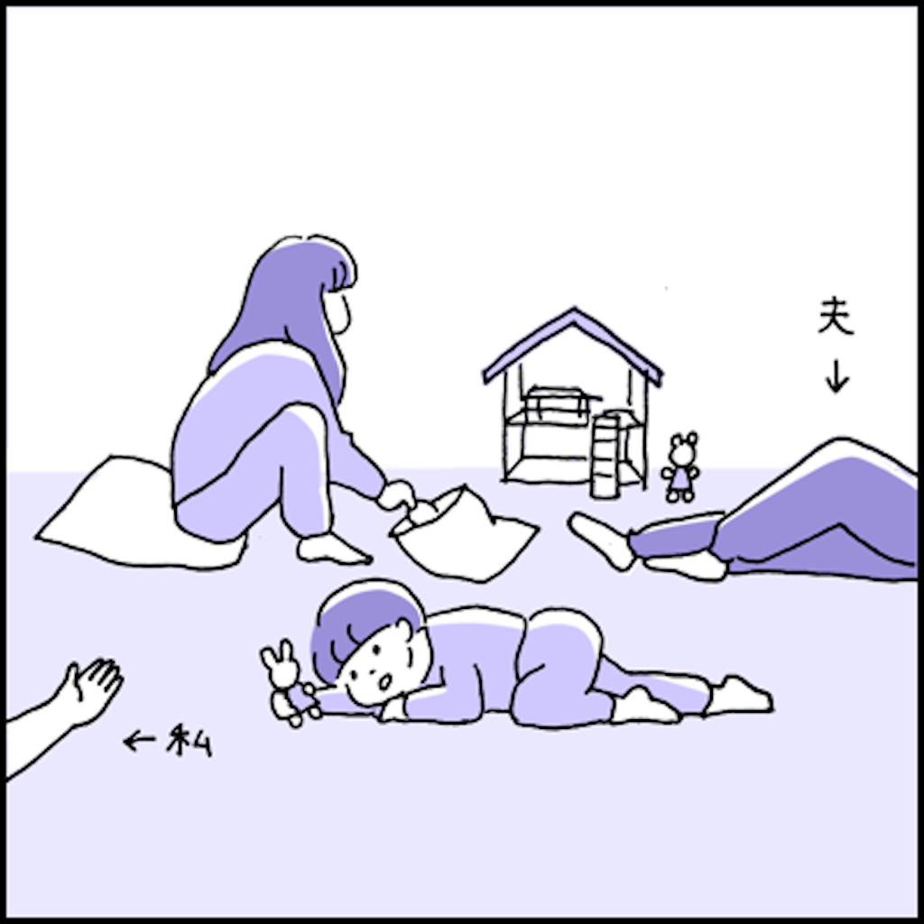 家で寛ぐ家族